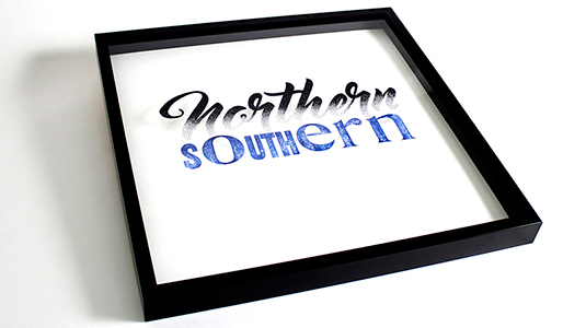 Northern/Southern typography