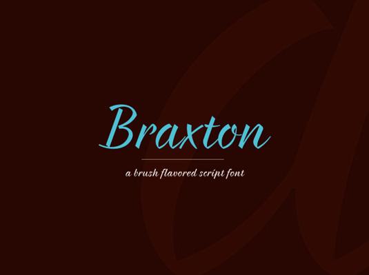 Free fonts: Braxton