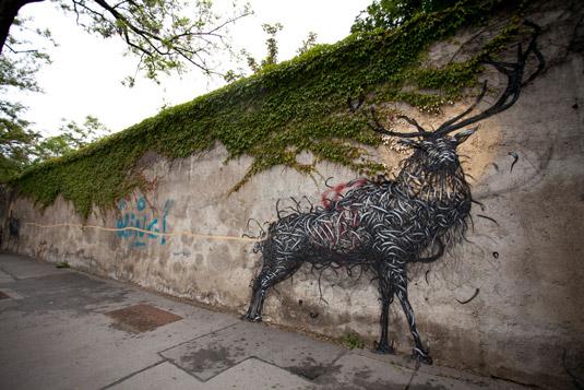 exmaples of street art: DALeast