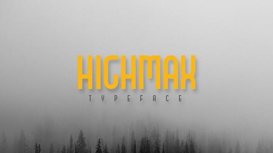 Free font: Highmax