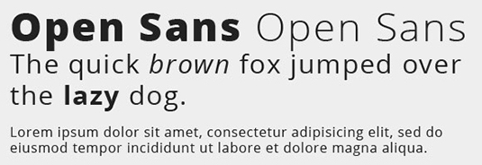 Google Fonts: Open Sans