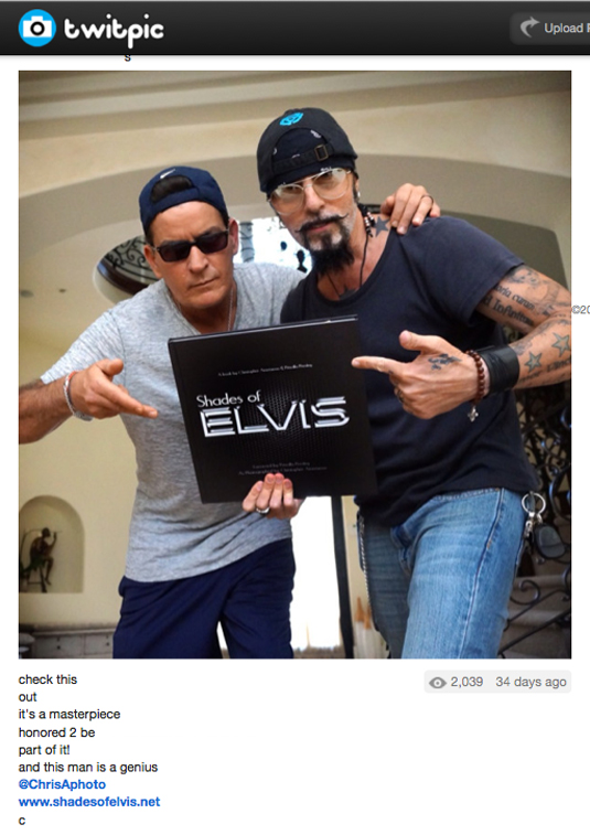 Photo of Charlie Sheen and friend