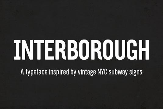 Interborough font
