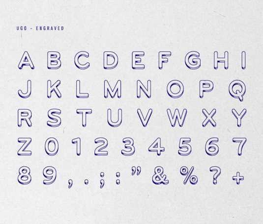 Free font: UGO