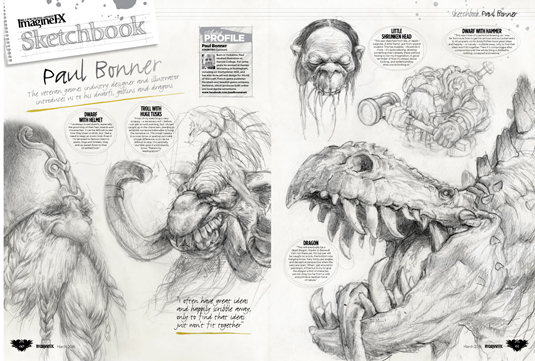 Imagine Fx issue 132 - Sketchbook, Paul Bonner