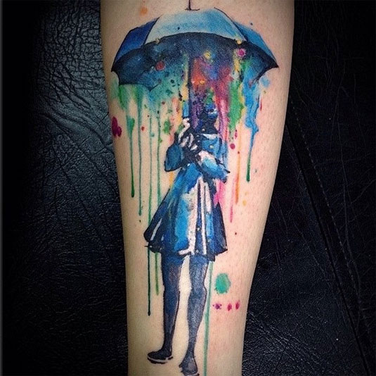 13 incredible examples of watercolor tattoo art: Victor Octaviano