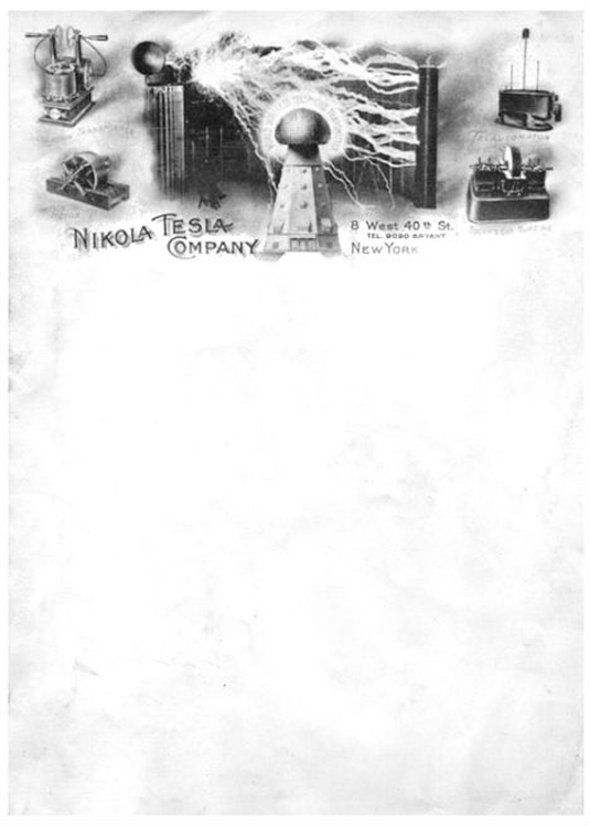 Letterhead designs: Nikola Tesla