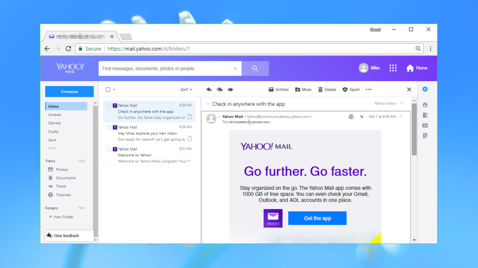 Best email providers: Yahoo Mail