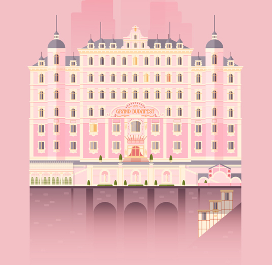 Wes Anderson flat design