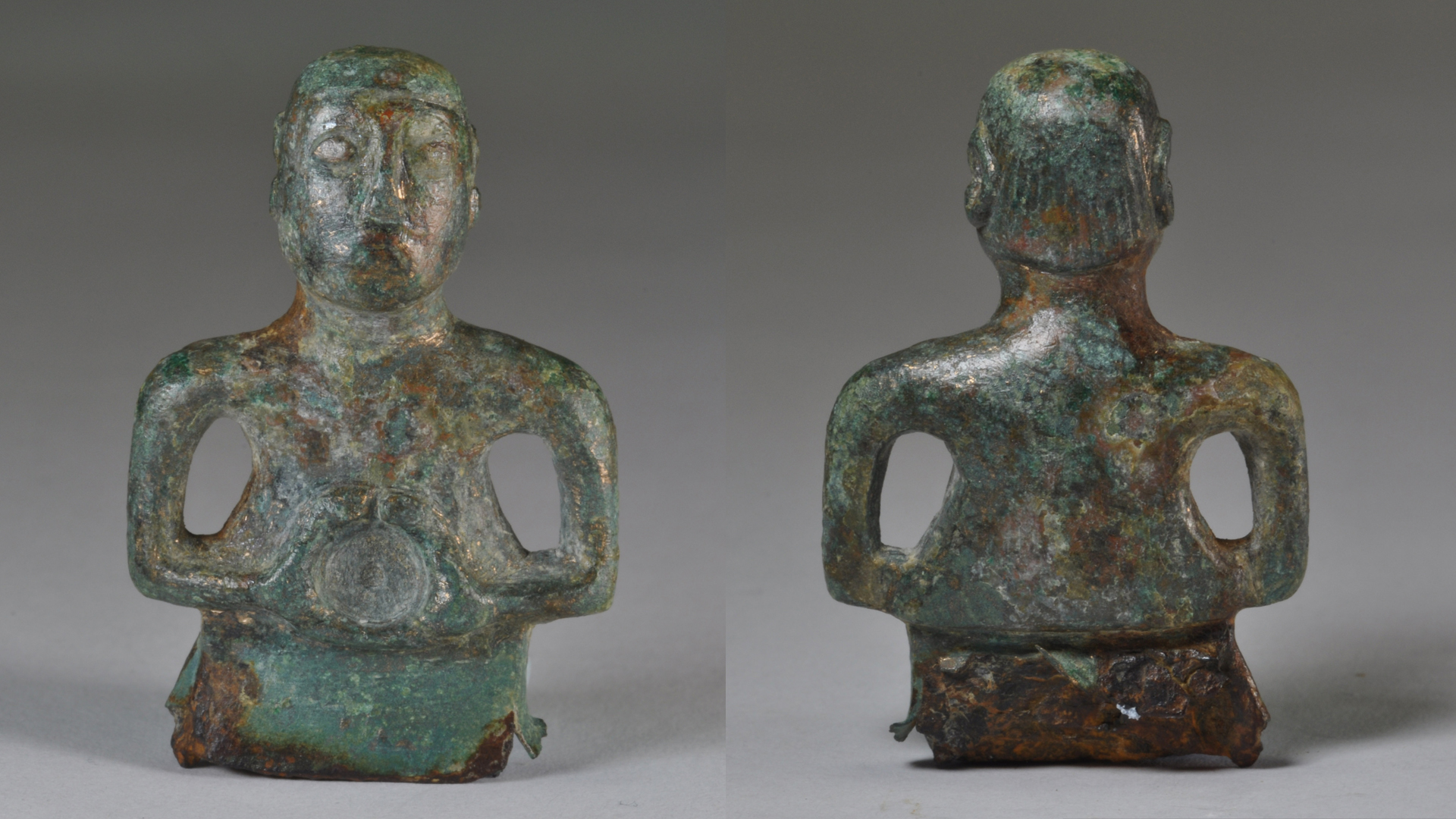 Celtic god or 1980s hockey player? Ancient deity statue wears a mullet and mustache
