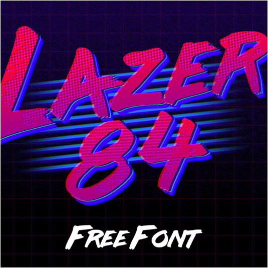 Free retro fonts: Lazer 84