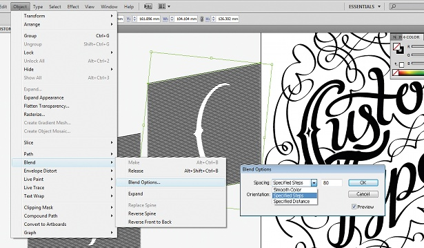Use the Calligraphic Brush tool: step 13