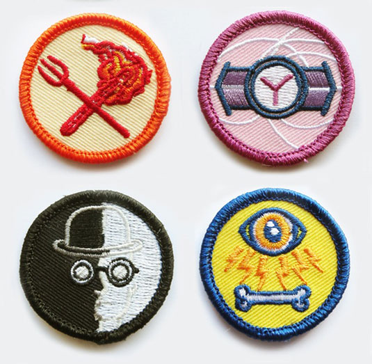 Twisted scout badges set 4