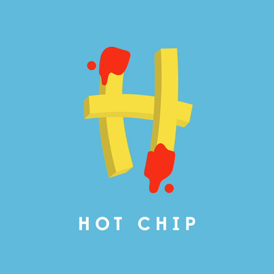 hot chip typography