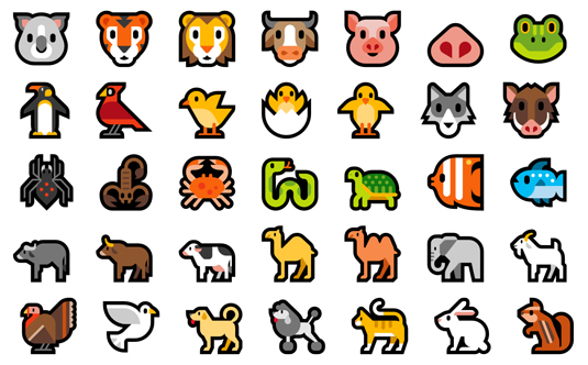 Microsoft 10 emojis