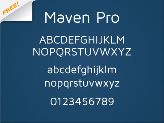 Free font: Maven Pro