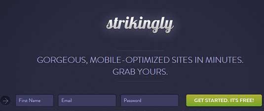 Website builder: Strikingly