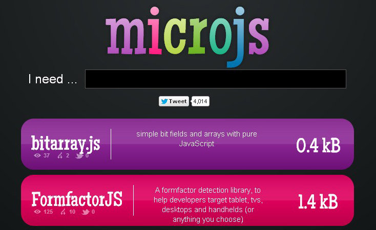Optimise web graphics with small JavaScript Libraries from Microjs.