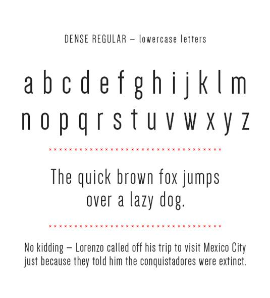 Free font: Dense regular