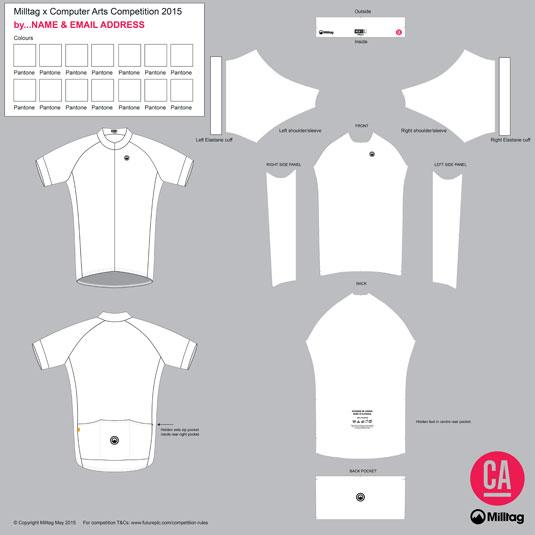 Milltag x Computer Arts jersey design template