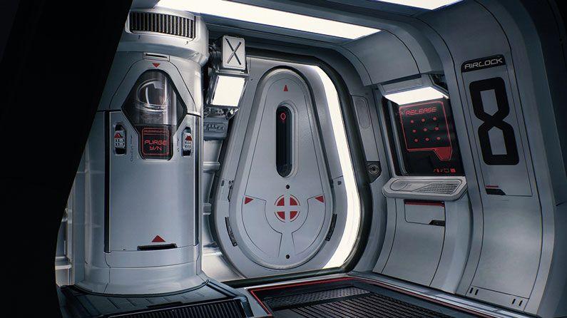 Creating A Realistic Spaceship Airlock Creative Bloq