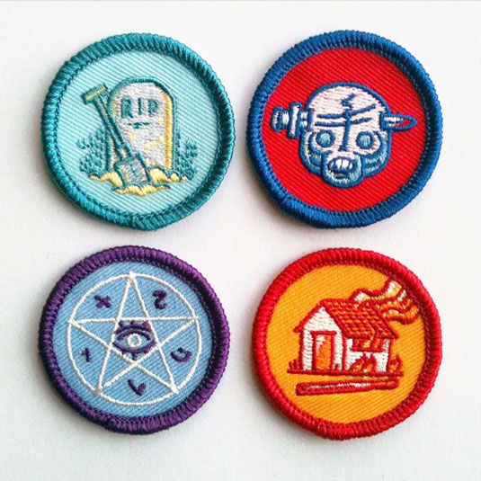 Twisted scout badges set 1
