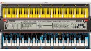 AutoTonic maps scales to the white notes on your keyboard