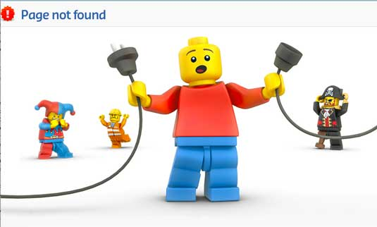404 pages: Lego