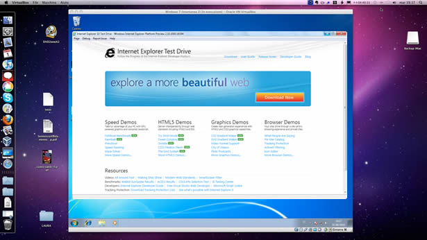 virtualbox with IE10
