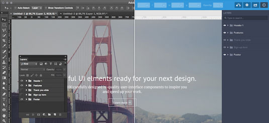 mockups created in free UXPin app