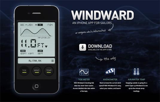 Website video background: Windward