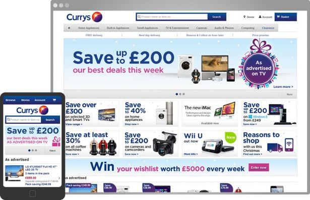 Best responsive websites: Currys
