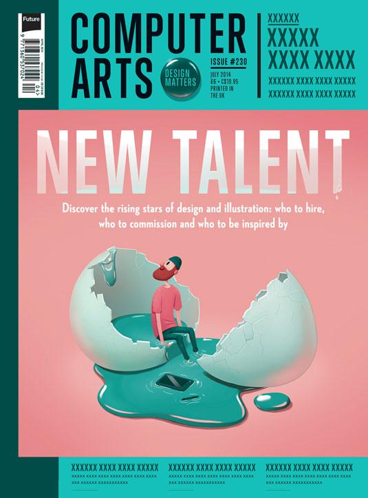 Cover design for CA's New Talent issue by Marija Tiurina