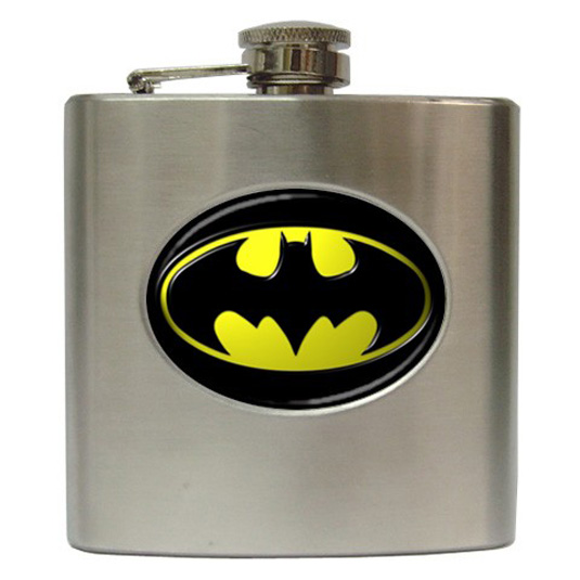 Batman merchandise: Hip flask