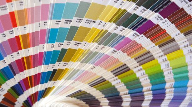 Colour management: pantone charts