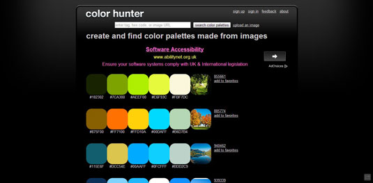 colour resources: color hunter