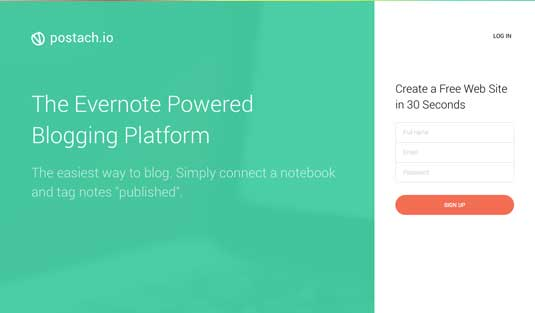 Best blogging platforms: Postach.io