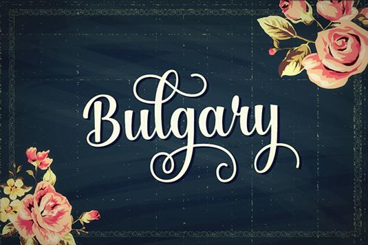 Free font: Bulgary
