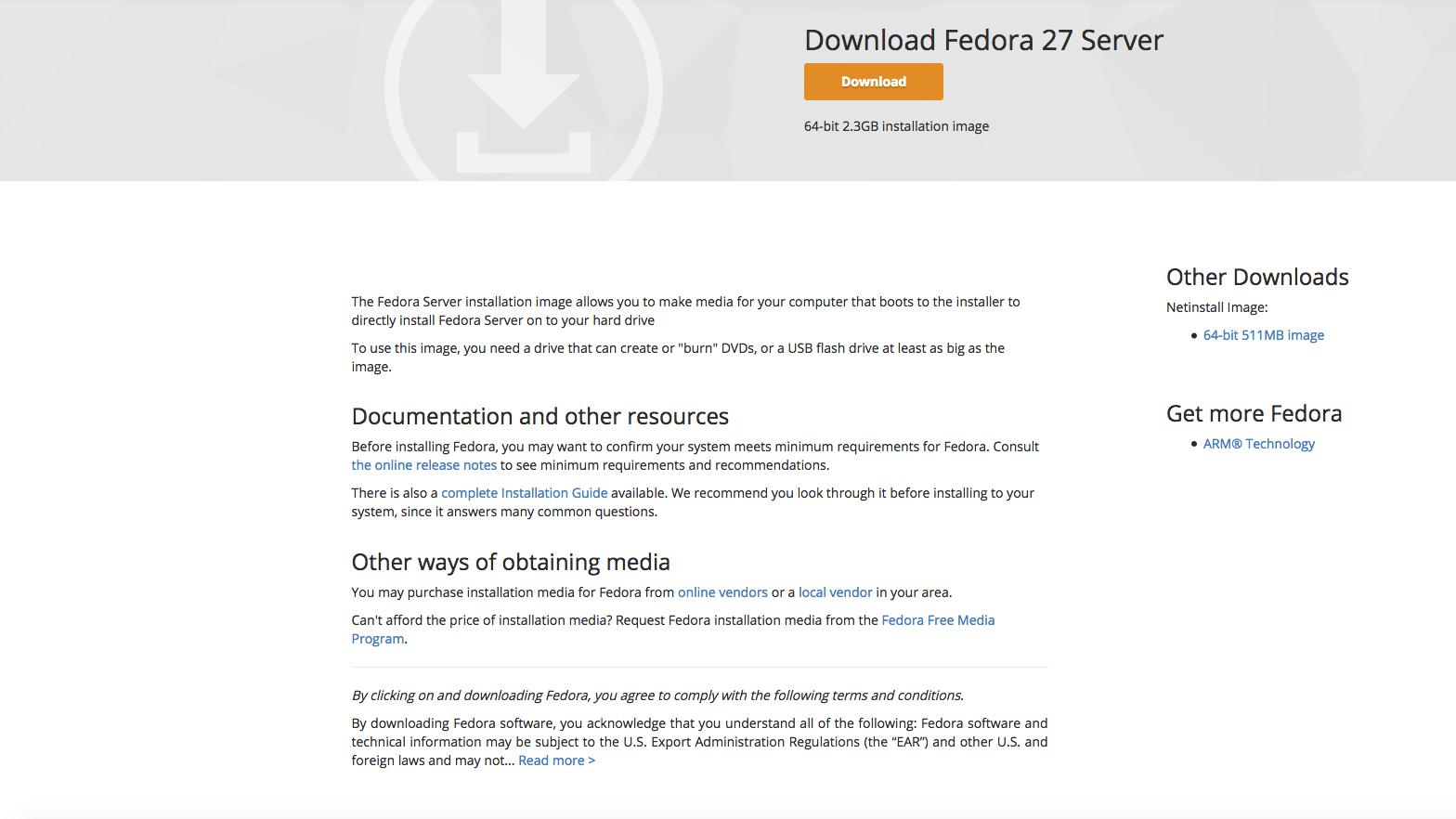 Fedora Server