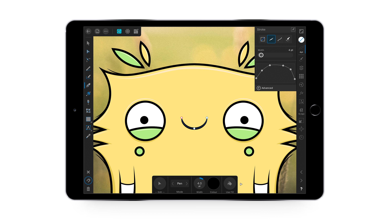 Screenshot of vector drawing on iPad