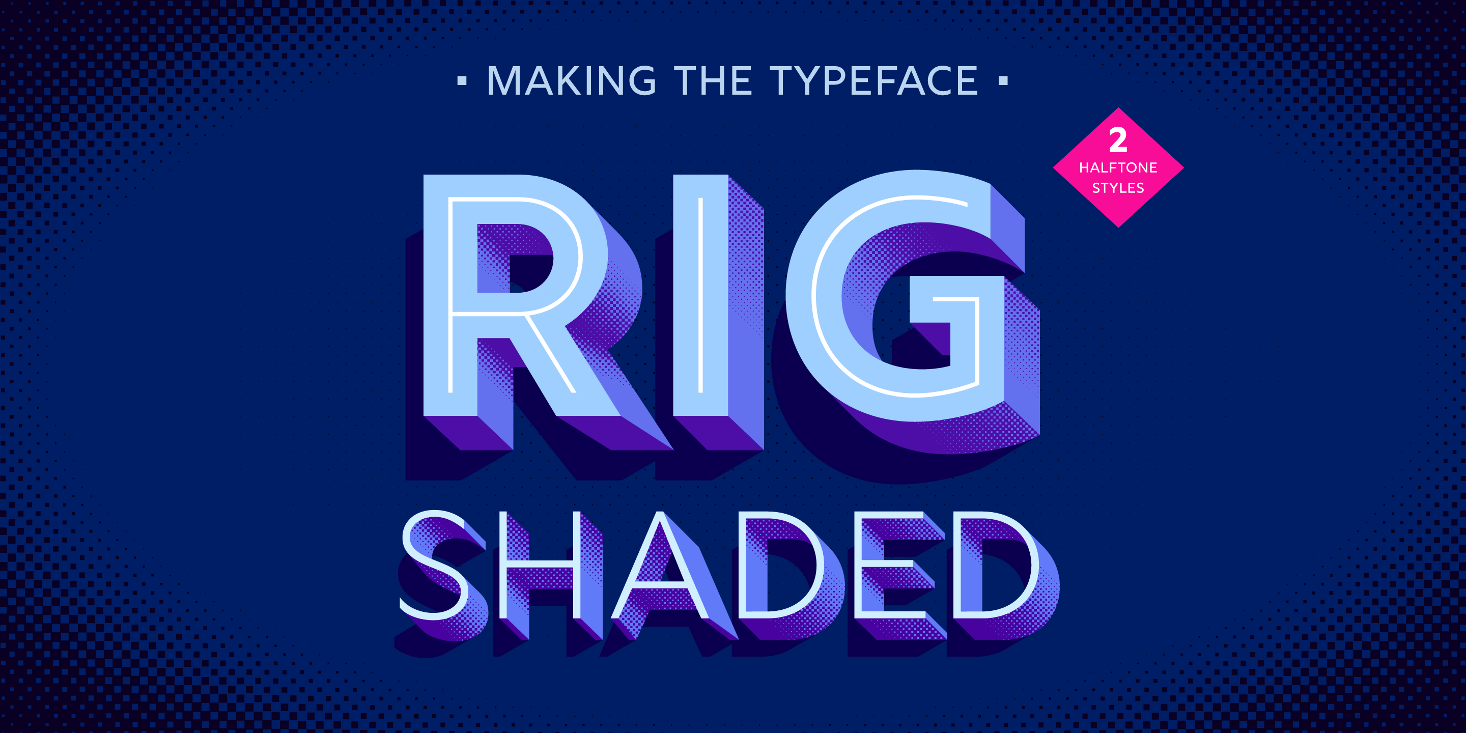 rig shaded typeface