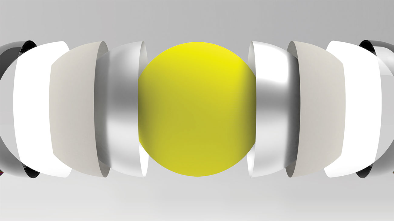 image of tennis ball between cup-like objects