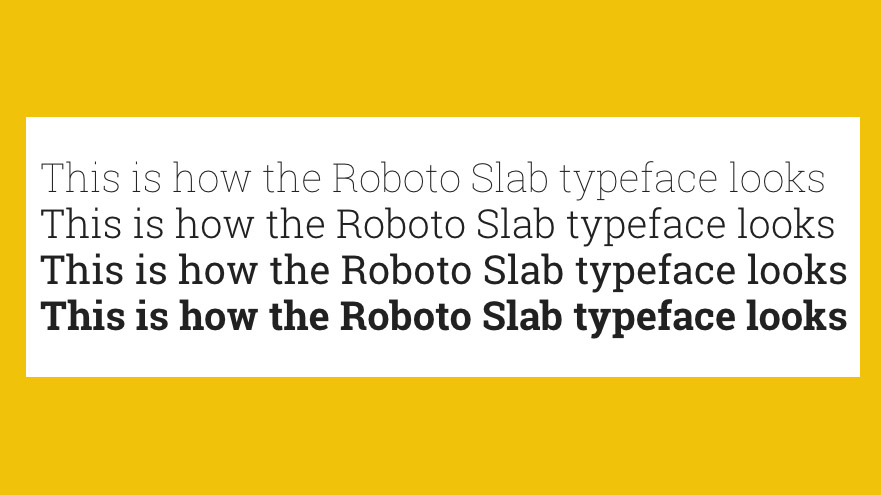 Free web fonts Roboto Slab