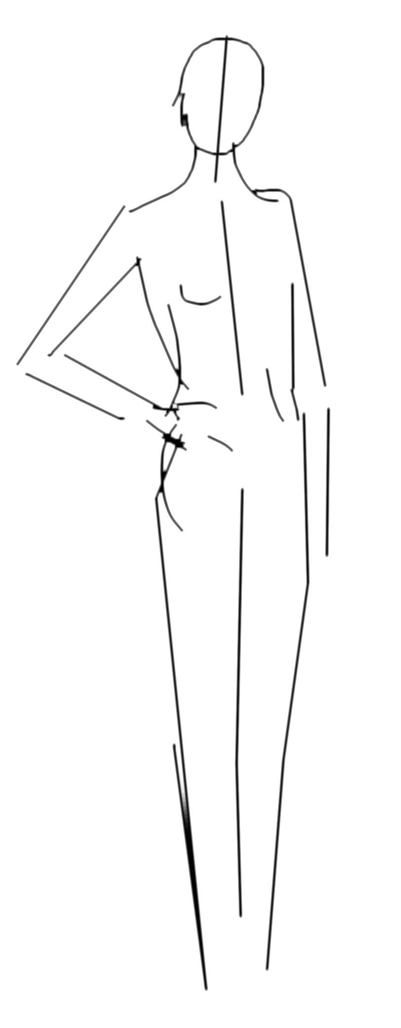 Sketch of model pose