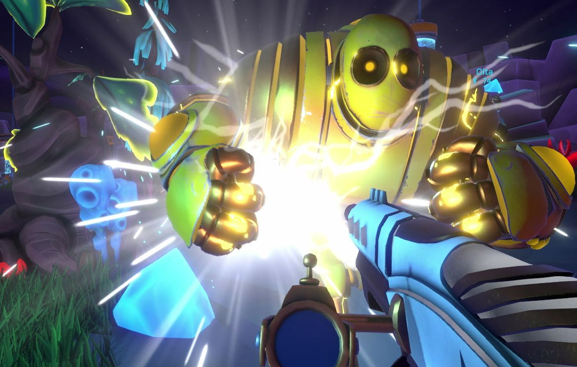 Aftercharge is a multiplayer FPS where one side can't die