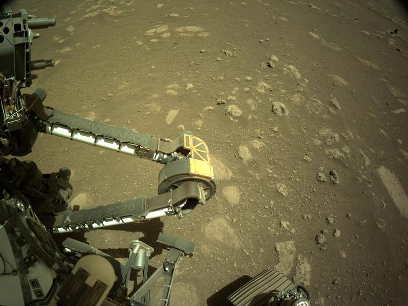 Perseverance rover flexes its arm on Mars for the 1st time