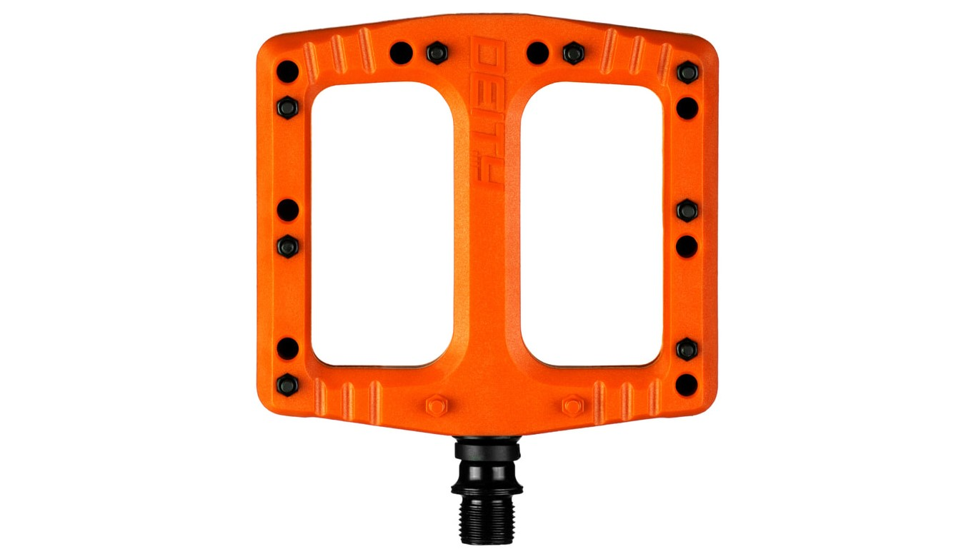 Deity Deftraps are nylon fibre flat pedals