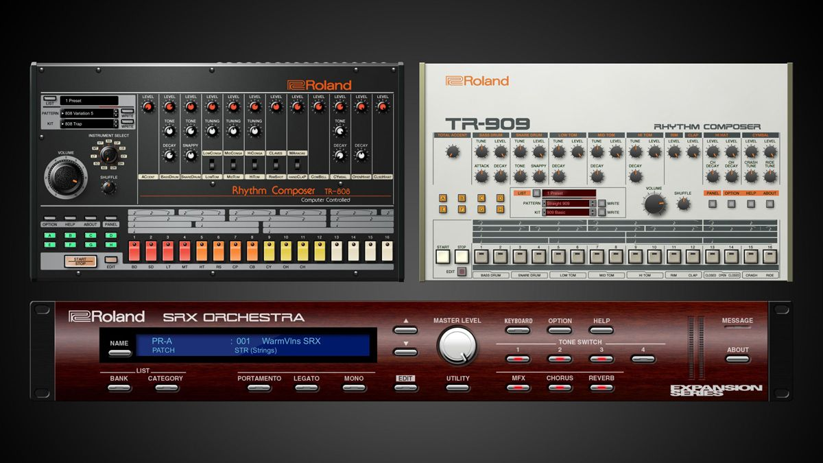 namm 2018 roland has finally announced vst au plugin versions of its 808 and 909 drum machines. Black Bedroom Furniture Sets. Home Design Ideas