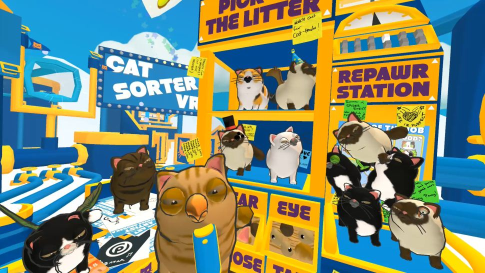 Virtual Reality Cat Video Game