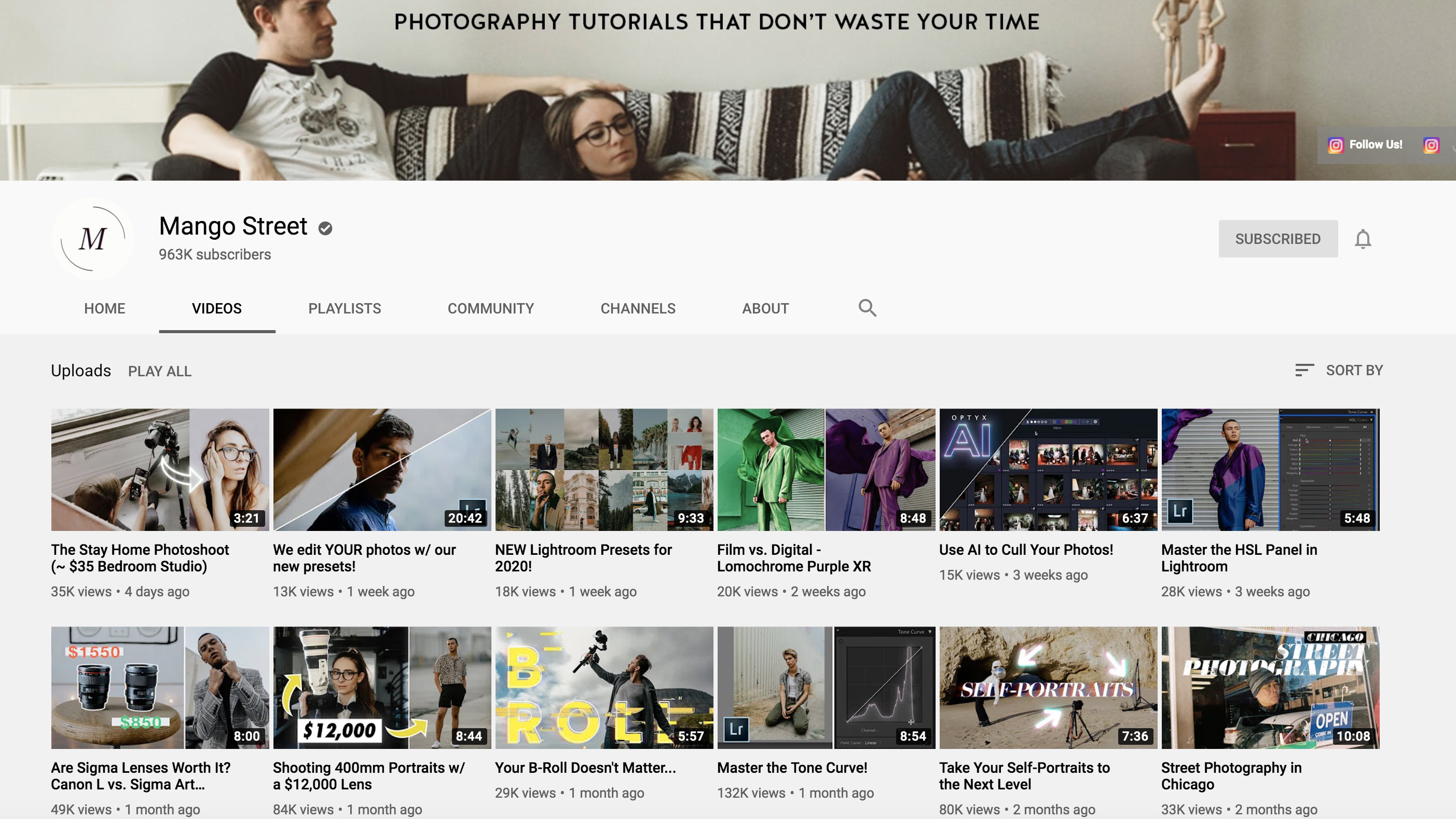 Best photography YouTube channels